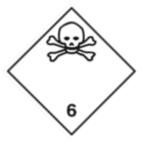 Информационное табло №6.1 по ДОПОГ (токсичные вещества)