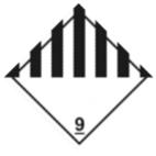Информационное табло №9 по ДОПОГ (прочие опасные вещества и изделия)